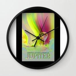 Jupiter - NASA Travel Poster (Alt) Wall Clock