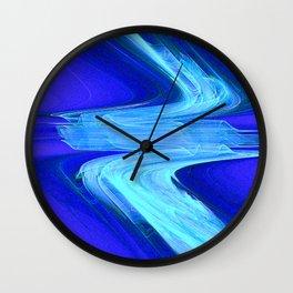 Atmospheric River Flow: Fractal Art Fantasy Wall Clock