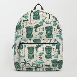 Tropical Tiki - Cream & Aqua Backpack