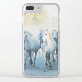Camargue Horses ... Clear iPhone Case
