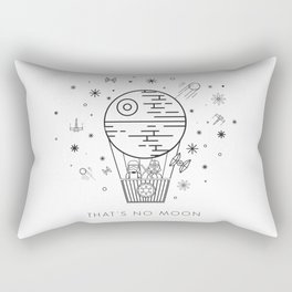 That's No Moon Death Star Hot Air Balloon Storm Tr Rectangular Pillow