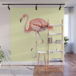Pink Flamingo Wall Mural