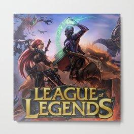 Legends Attack Metal Print