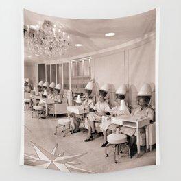 Vintage Hair Salon Wall Tapestry