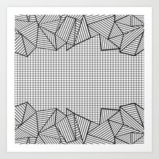 Grids and Stripes Art Print