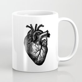 Vintage Heart Anatomy Coffee Mug