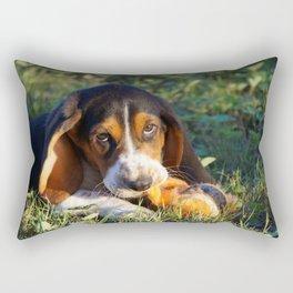 Odin The Basset Hound Rectangular Pillow