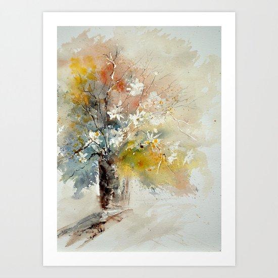 watercolor 212072 Art Print