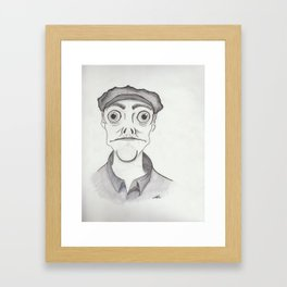 Innsmouth Towns person Framed Art Print