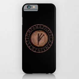 Fehu Elder Futhark rune Possessions, earned income, luck. Abundance, financial strength, hope iPhone Case