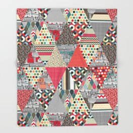 London triangle quilt Throw Blanket
