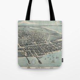 Corpus Christi, Texas 1887 Tote Bag