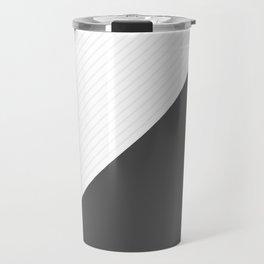 Gray metal lines Travel Mug