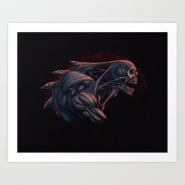 Skull Creature Color Art Print