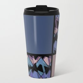 Blue brown patchwork Travel Mug