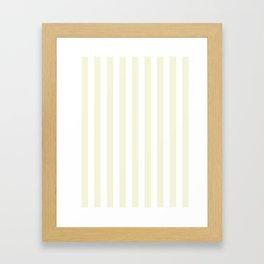 Narrow Vertical Stripes - White and Beige Framed Art Print