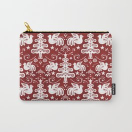 Hygge - Scandinavian Winter (Red) Carry-All Pouch