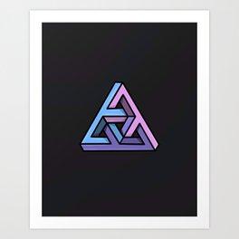 Penrose Triforce Art Print