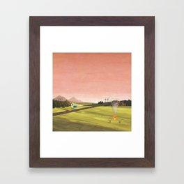 DRIVE AT TWILIGHT Framed Art Print