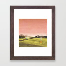 DRIVE AT TWILIGHT Framed Art Print