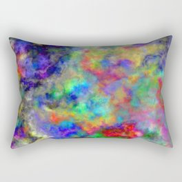 Abstract bright colorful watercolor brushstrokes pattern Rectangular Pillow