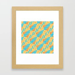Chocktaw Geometric Square Cutout Pattern - New Mexico Framed Art Print