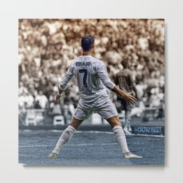 cr7 clebration Metal Print
