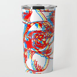 Glitch gardenia - primaries Travel Mug