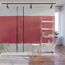 White Red White Wall Mural