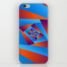 Orange and Blue Spiral iPhone Skin