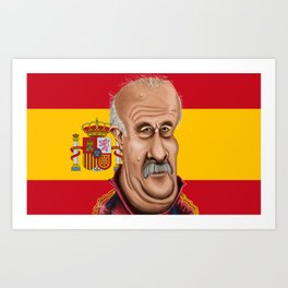 Vicente Del Bosque World Cup 2014 Art Print