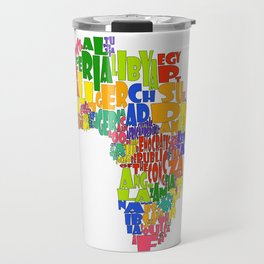 African Continent Cloud Map Travel Mug