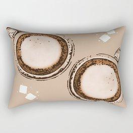 Double Cappuccino Rectangular Pillow