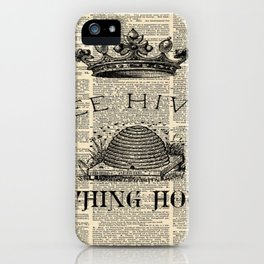 western country garden farmhouse beekeeper honey bumble bee hive iPhone Case