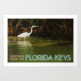 Great White Heron FL Keys Art Print