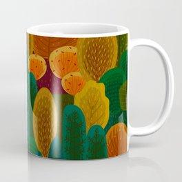 Stylized Autumn color trees pattern Coffee Mug