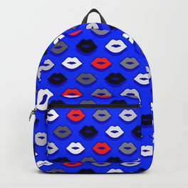 Lips on Ultramarine Pattern Backpack