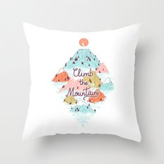 Misty Mountains Throw Pillow