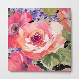 The Rose floral  Metal Print