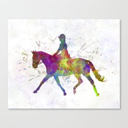 Horse show 05 in watercolor Canvas Print