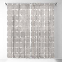 ZHI RIAD GREY Sheer Curtain