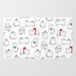 Fat Christmas cats Rug