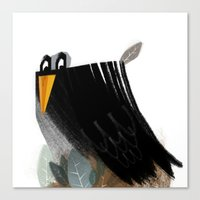 birdy Canvas Prints featuring Birdy by Jovana