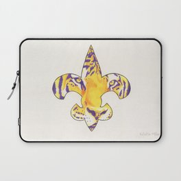 Fleur De Lis LSU Tiger Laptop Sleeve