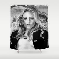 cara Shower Curtains featuring cara delevingne by donotseemeart