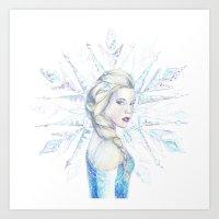 elsa Art Prints featuring Elsa by RebeccaKateArt
