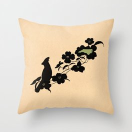 North Carolina - State Papercut Print Throw Pillow