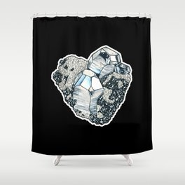 Hematite Crystal Cluster Shower Curtain