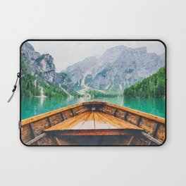 Boat in the lake watercolor painting  Laptop Sleeve