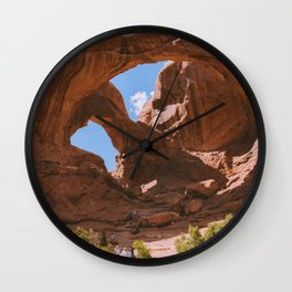 Double Arch Wall Clock